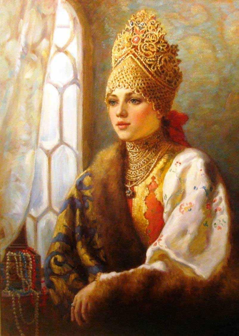 русский костюм головной убор