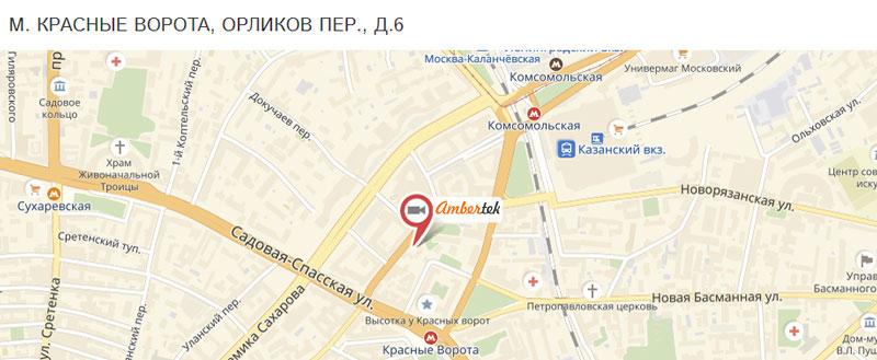 Адрес магазина Ambertek в Москве
