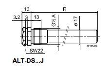 Размеры защитной гильзы Siemens ALT-DS100J