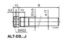 Размеры защитной гильзы Siemens ALT-DS150J