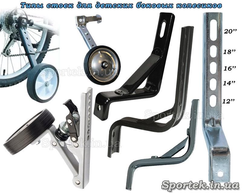 Кронштейны (стойки) для боковых колесиков на детские велосипеды