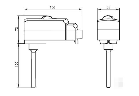 Размеры контроллера температуры Siemens RAK-TR.1000B-H
