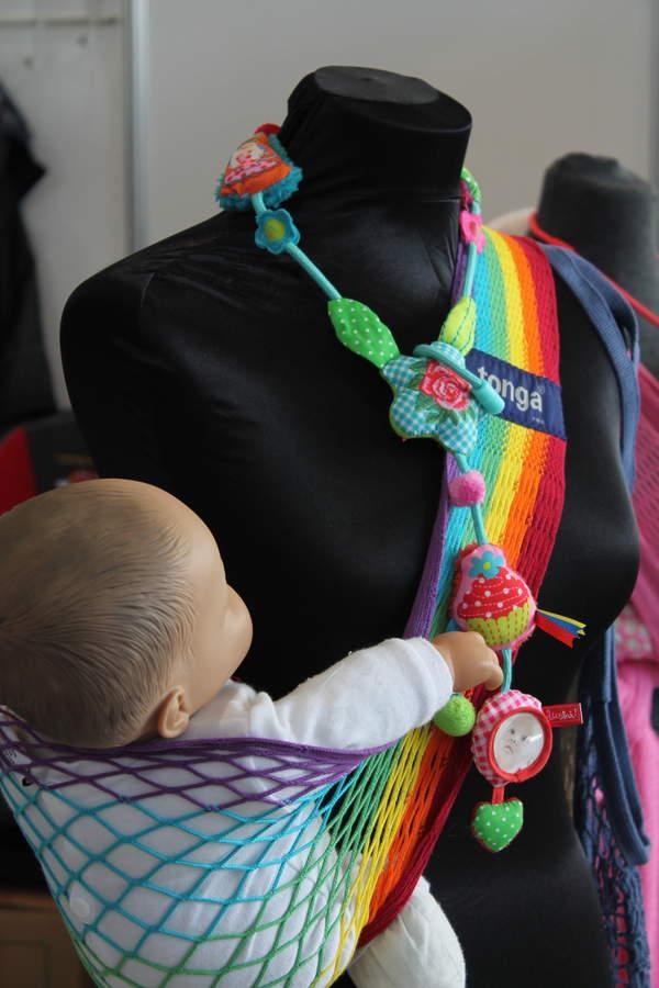 Слинг-гамак Тонга_цвет радуга арт.745006+ожерелье Ностальгия
