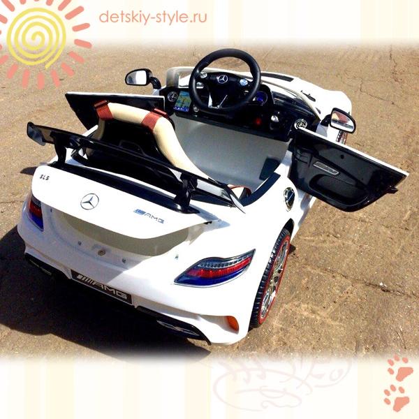 электромобиль mercedes benz sls a333aa, купить, цена, а333аа, river auto, лицензия, электромобиль мерседес sls 333, отзывы, кожаное сидение, стоимость, заказ, заказать, интернет магазин, detskiy-style.ru, доставка по россии