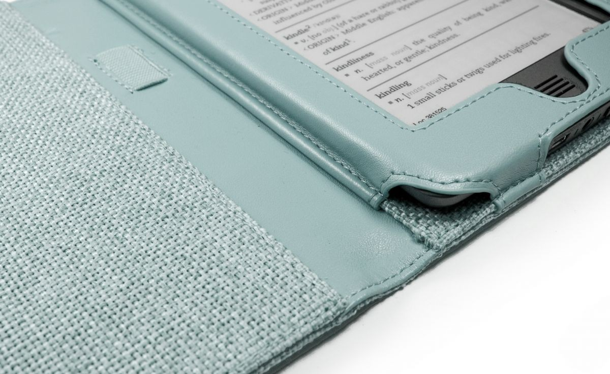 Чехол-обложка для Amazon Kindle PaperWhite and Touch Natural Hemp Case Cover (Turquoise Blue)