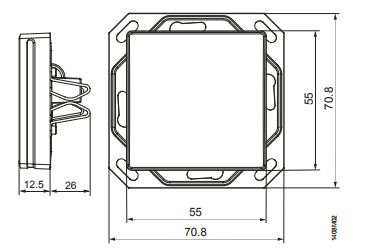 Размеры модуля Siemens AQR2531BNW