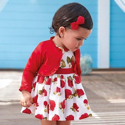 Одежда Mayoral Весна-Лето 2019, платье с красными розами