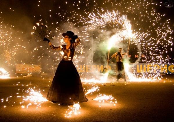 огненное шоу фото