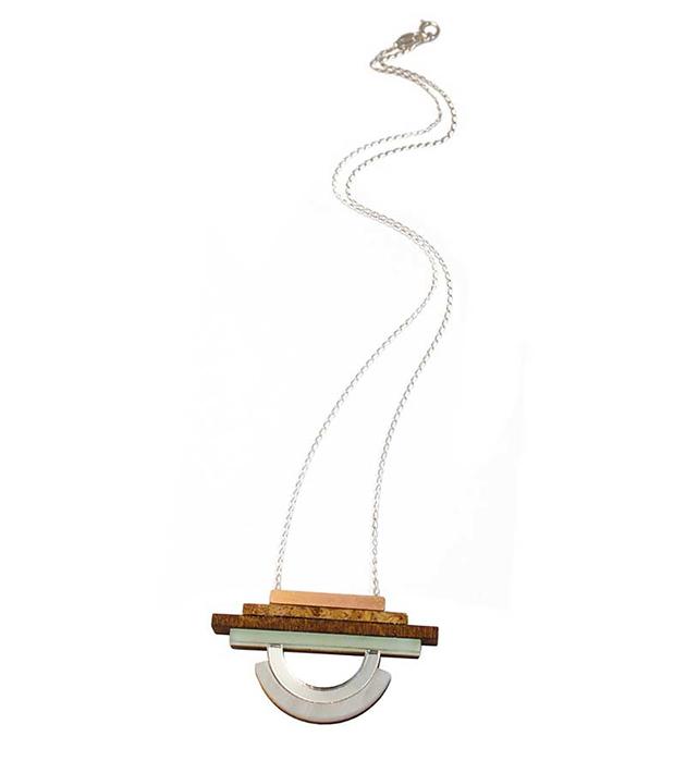 геометричная подвеска ручной работы от Wolf&Moon - Fjord Pendant Mint