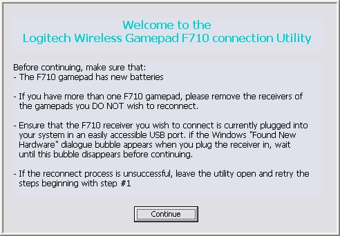 Присоединение Logitech F710 к ресиверу