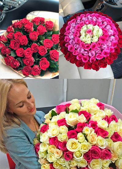 Более 200 цветочных композиций