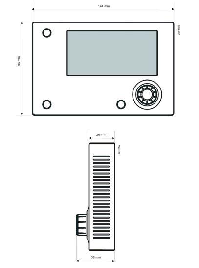 Размеры Siemens POL895.51/STD