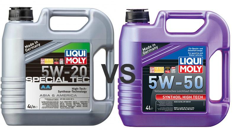 Liqui Moly 5w20 vs 5w50