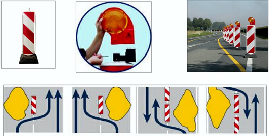 Применение дорожных ограждений Солдатик