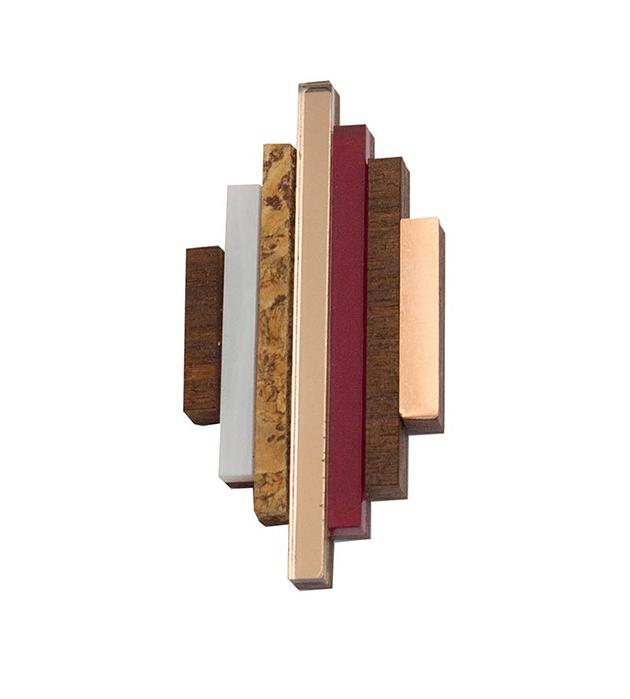 купите оригинальная брошь Ripple brooch Plum от английского бренда Wolf&Moon