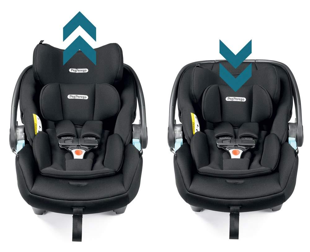6-позиционный регулируемый по высоте подголовник - Для идеальной защиты, растущей вместе с малышом