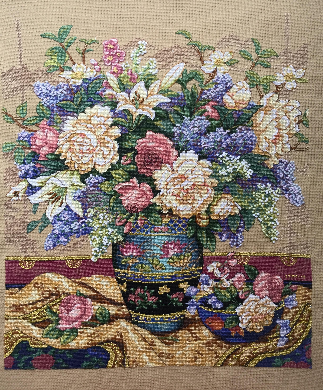 Отшив по набору для вышивания. Роскошь Востока. Oriental Splendor. Арт. 35163