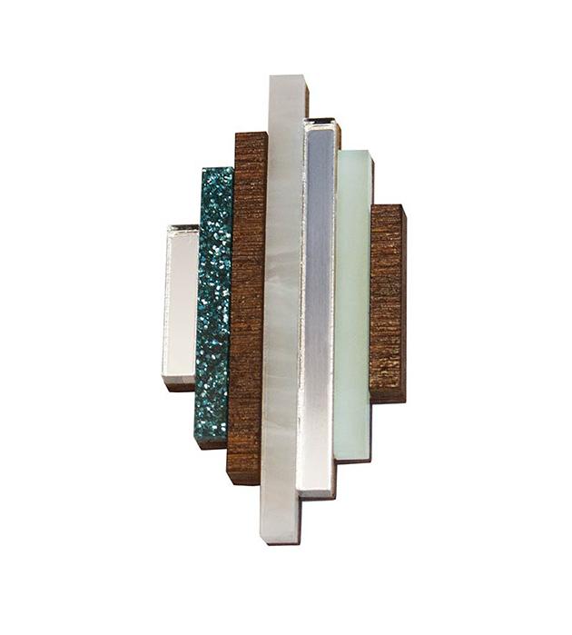 купите стильное украшение ручной работы от Wolf&Moon - Ripple brooch Mint