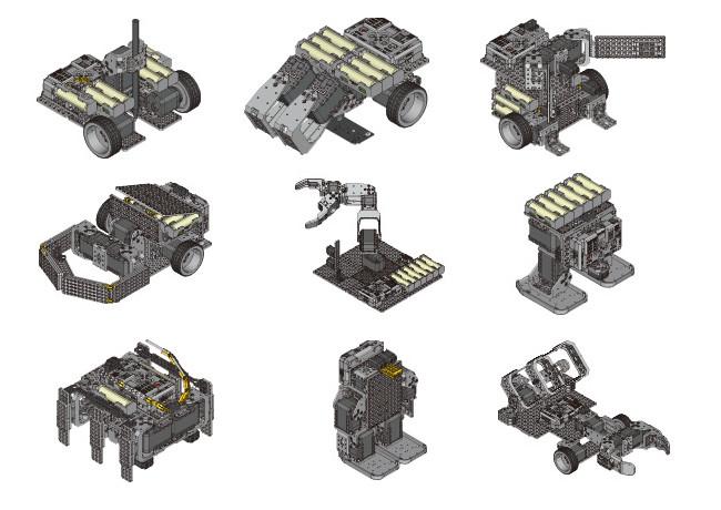 Примеры роботов для набора ROBOTIS STEM