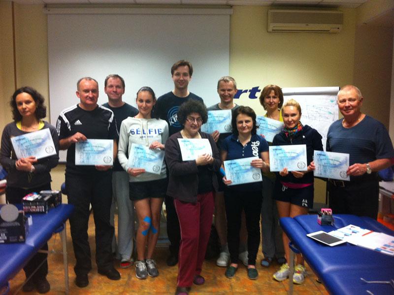 Поздравляем участников семинара по кинезиотейпированию с получением сертификатов!