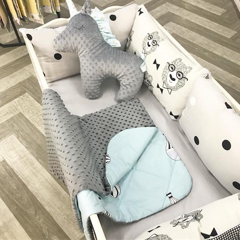 Купить бортики в кроватку в скандинавском стиле