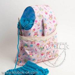 сумочка для пряжи  project bag for knitting