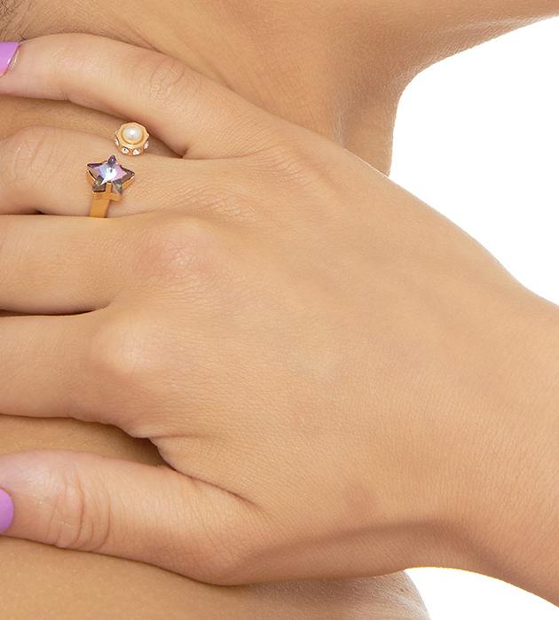 эффектное открытое кольцо  ручной работы от MFP - Star ring