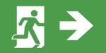 Пиктограмма указателя для обозначения эвакуационных выходов IP44 ESC-3 – направляющая стрелка вправо