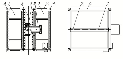 Схема клапана КОД-1М, EI-180 НЗ, 500х500 мм, BLE230
