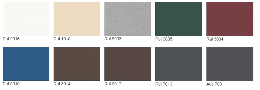 10 стандартных цветов