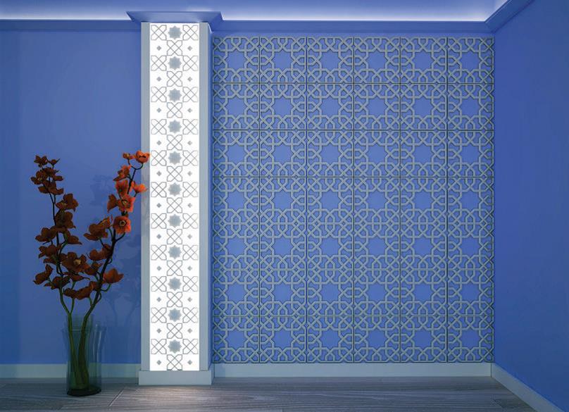 Оформление стены и стекла