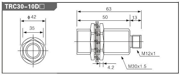 размеры TRC30-15DP