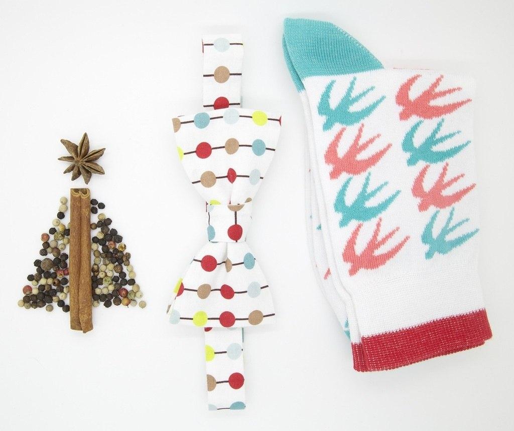 Эксклюзивный подарочный набор бабочки и носки с ласточками