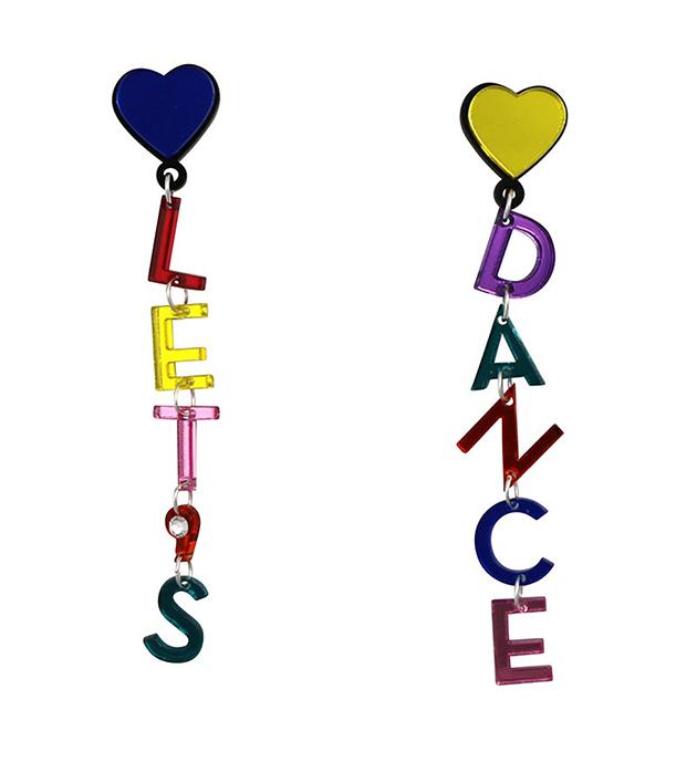 оригинальные клипсы с кристаллом Swarovski от Jennifer Loiselle - Let's Dance Earrings