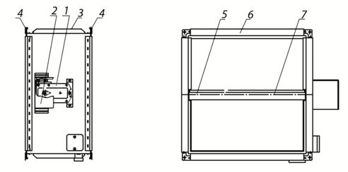 Схема клапана КОД-1М, EI-60 НО, 1000х1000 мм, BLF230
