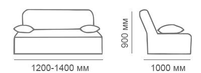 Габаритные размеры дивана Стелси-2