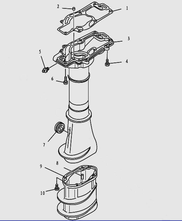 Запчасти корпуса лодочного мотора T9.8 Sea-PRO