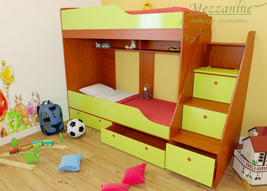 купить детскую двухъярусную кровать в СПб