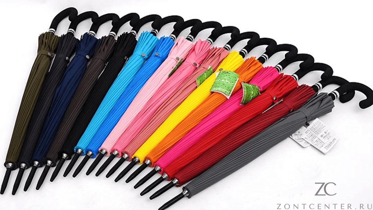 Зонт трость оранжевый 24 спицы | ZC Mabu