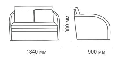 Габаритные размеры детского дивана Стелси Д