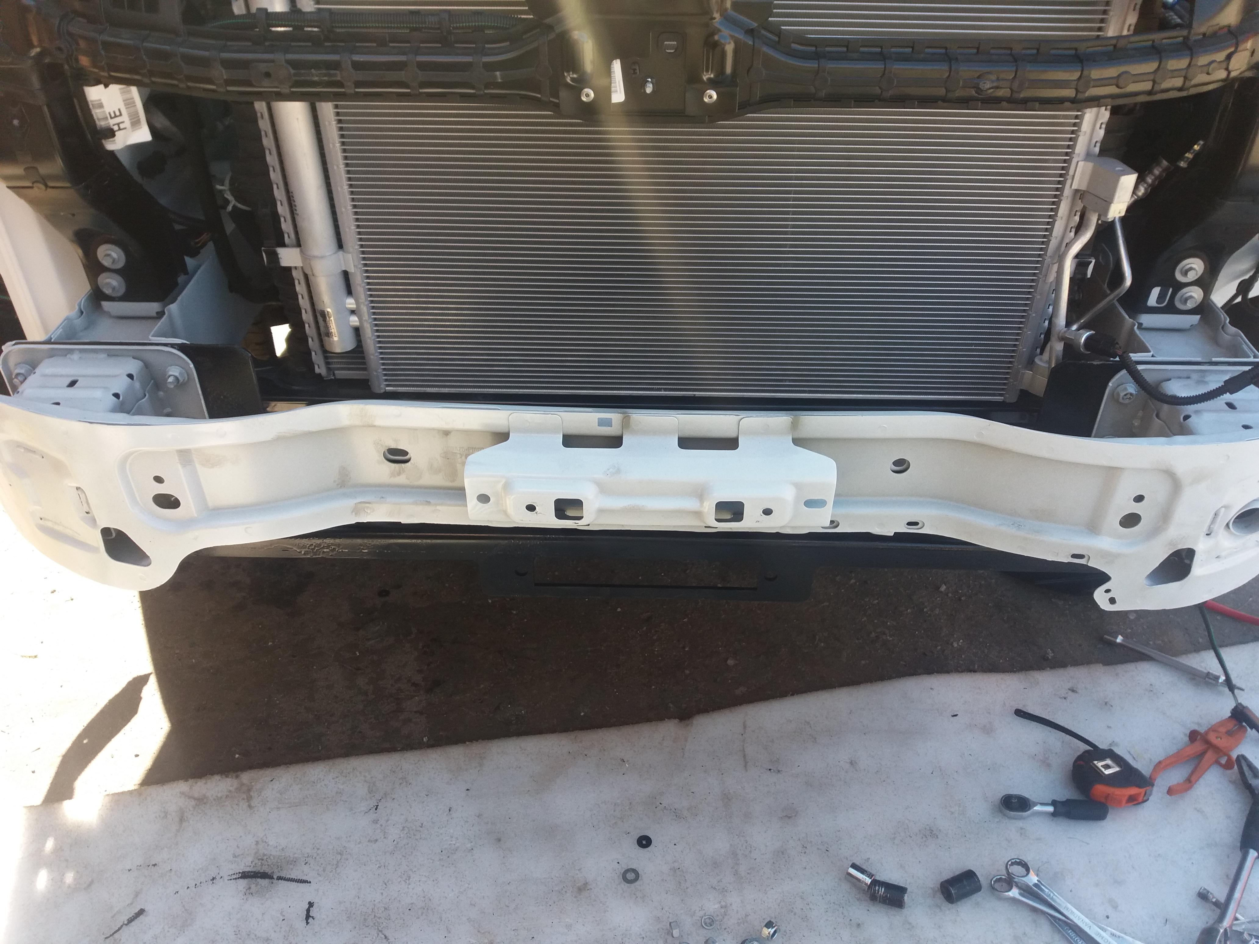 установка лебедки на форд транзит