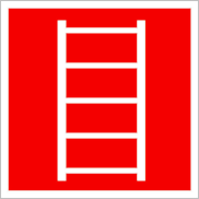 Пожарные знаки безопасности F03 Пожарная лестница