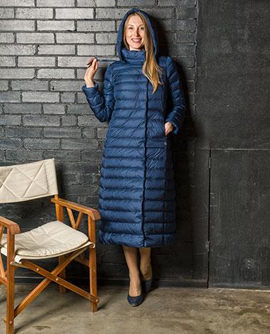 Длинное модное пуховое пальто Joutsen из демисезонной коллекции