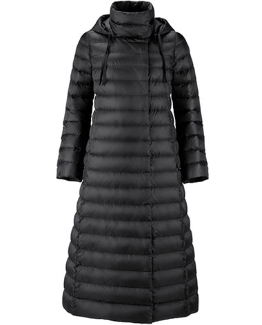 Женское длинное пуховое пальто из демисезонной коллекции Joutsen