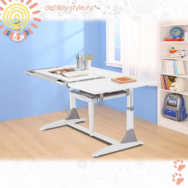 детский стол парта comf-pro king, купить, цена, парта трансформер кинг, стоимость, школьная парта комф про, заказ, дешево, отзывы, заказать, растущая парта меалюкс, бесплатная доставка, официальный дилер, detskiy-style.ru