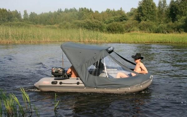 Тент для лодки ПВХ своими руками: материал, фурнитура 87