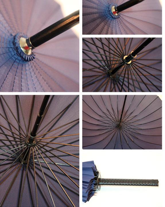 Черный зонт трость меч |  zc sword