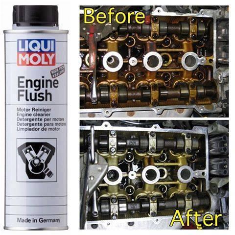 До и после промывки двигателя