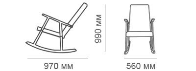 Габаритные размеры кресла-качалки Стелси-К