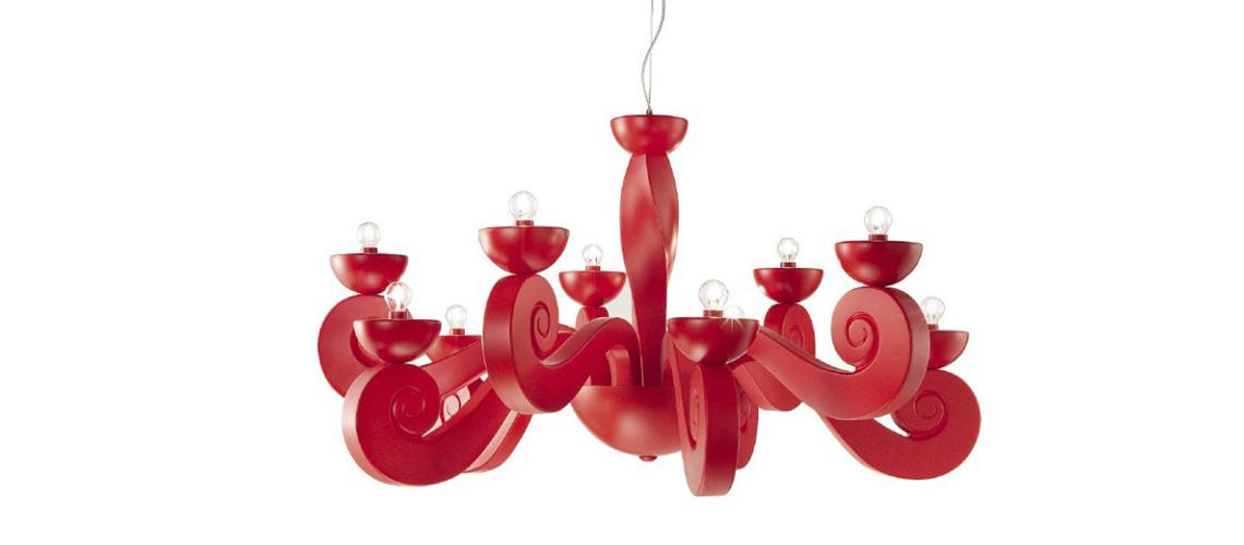 Masiero: Botero Необычная модель светильника из каталога Eclettica отсылает к творчеству колумбийского художника Фернандо Ботеро, который прославился изображением гиперболизированных фигур и гигантскими скульптурами «полных» людей и животных. Люстры, бра, торшер и настольная лампа этой серии доступны в белом, черном и красном цветах.